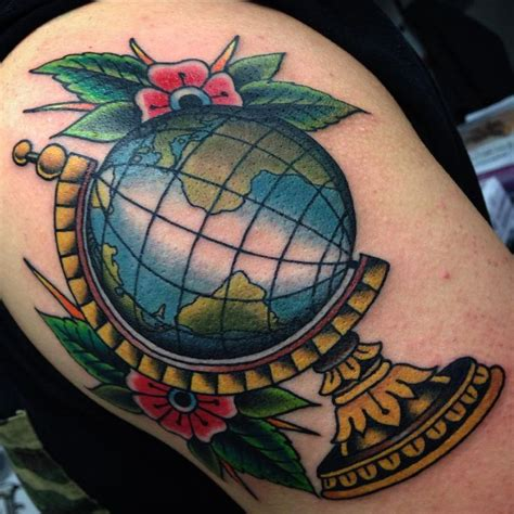 globe tattoo best 25 globe tattoos ideas on earth