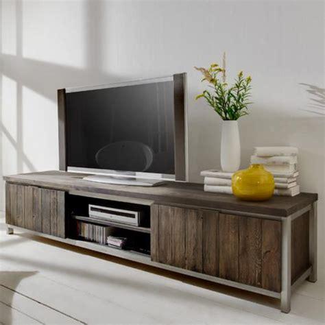 wohnzimmer lowboard vintage lowboard eiche massiv edelstahl wohnzimmer tv rack