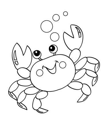 easy crab coloring page top 10 free printable crab coloring pages online child