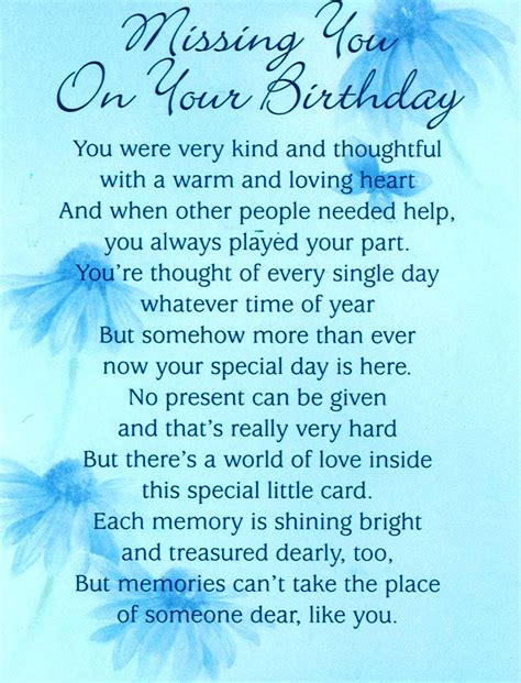 Missing Birthday Quotes Ross Ireland