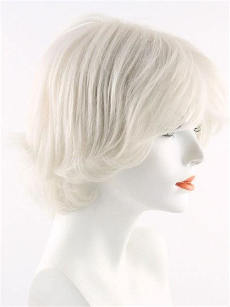pure white wigs and hair pieces short and curly hairstyles kylie by envy synthetic human hair blend wigs com