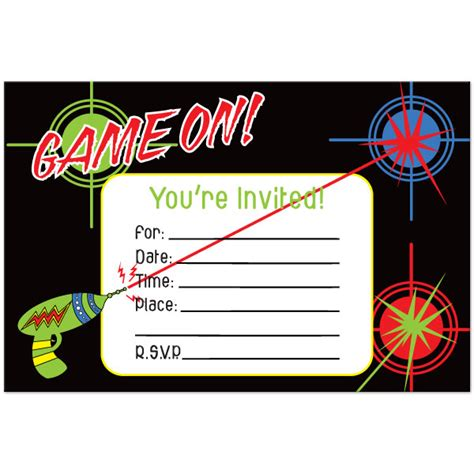 printable birthday invitations laser tag laser tag party invitations template free cimvitation