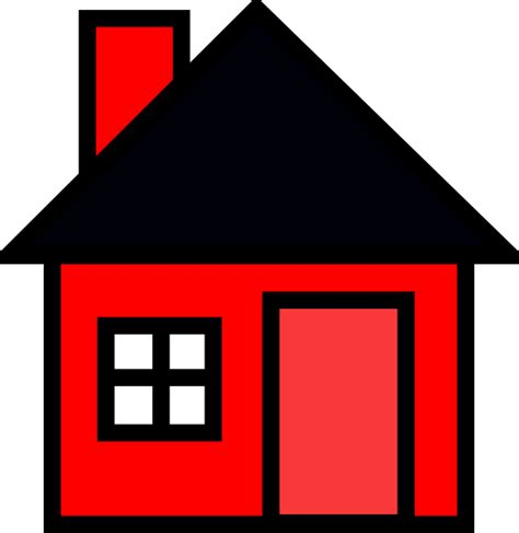 house animated red house clip art at clker com vector clip art online