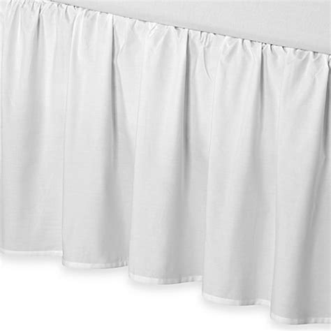 full bed skirt buy smoothweave 21 inch ruffled full bed skirt in white from bed bath beyond