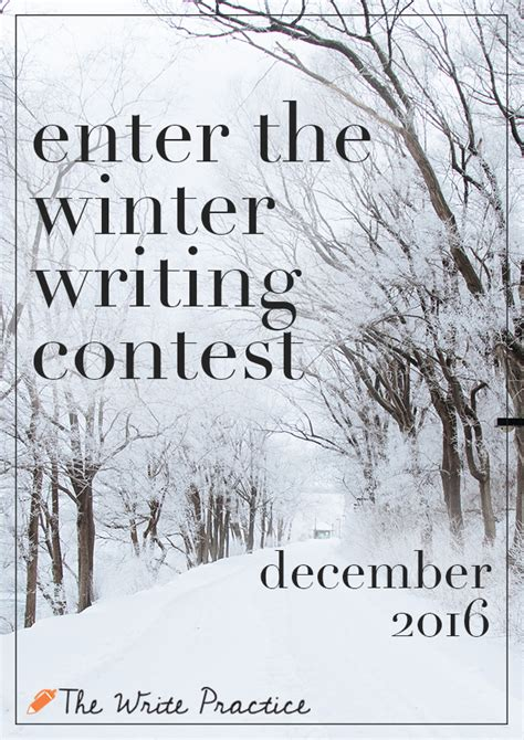 The Write Stuff Essay Contest by Winter Writing Contest The Write Practice
