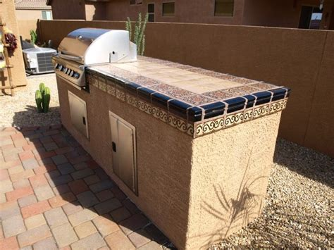 time to barbeque mediterranean patio phoenix by mexican tile and stone