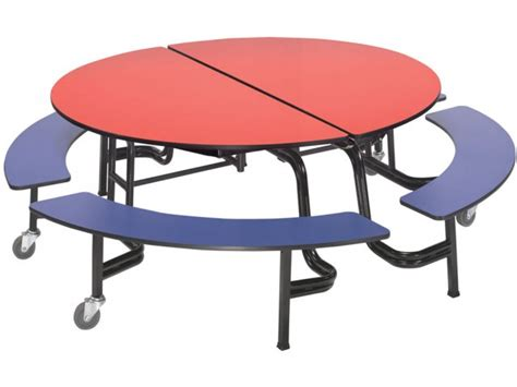 school lunch tables amt mobile bench cafeteria table 60 quot dia cafeteria