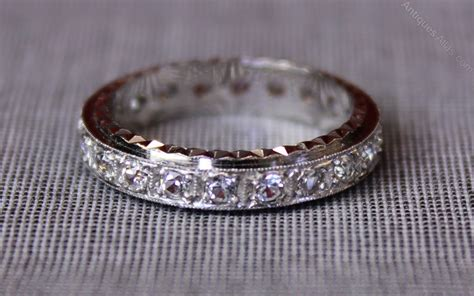antiques atlas vintage white gold eternity ring