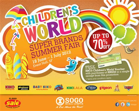 Sogo Baby Fair Summer Time Malaysia Sale Jualan Murah | click for larger view