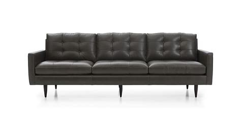 petrie leather sofa sofa 100 paxton 100 upholstered sofa in jennings onyx