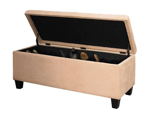 ottoman with shoe storage linon shoe storage ottoman beige home