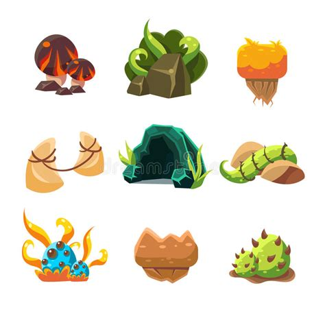 game design elements in vector from stock 2 video game level design collection of elements stock