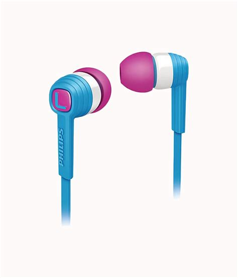 Philips Earphone With Mic She 3855 Bl Blue buy philips citiscape she7050bl 00 in ear headphones blue without mic at best price in