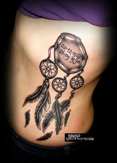 dream catcher tattoo on your side 28 cute dreamcatcher tattoos for girls