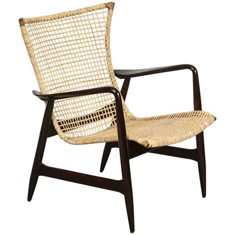 Cane Danish Armchair At 1stdibs