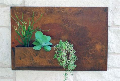 Garden Wall Planters Metal by 17 Best Ideas About Succulent Wall Planter On