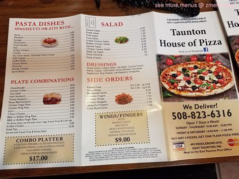 middleboro house of pizza online menu of taunton house of pizza restaurant east taunton massachusetts 02718