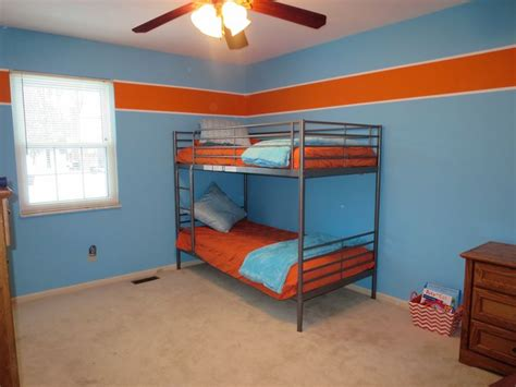 orange paint colors for bedrooms boys room orange and blue behr paint colors orange burst