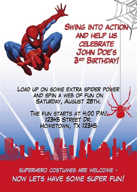 leslie designs stuff spiderman birthday party invitation