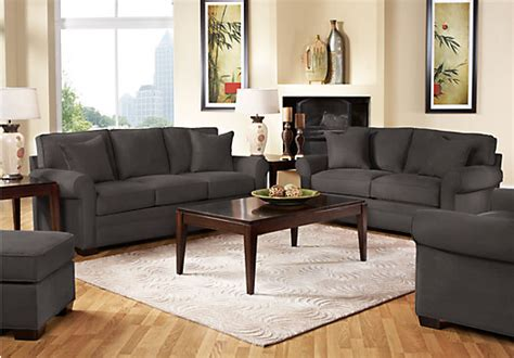 cindy crawford living room furniture cindy crawford home bellingham slate 7 pc living room