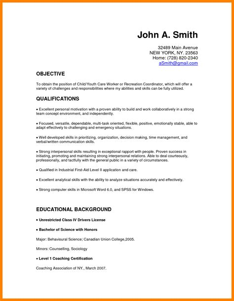 Child Care Resume Sle by 8 Resume For Child Caregiver Writing A Memo