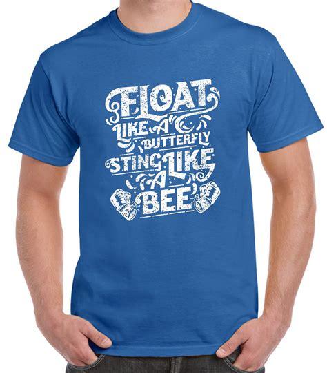 T Shirt Muhammad Ali Biru Royal float like a butterfly sting like a bee boxing s t shirt muhammad ali ebay