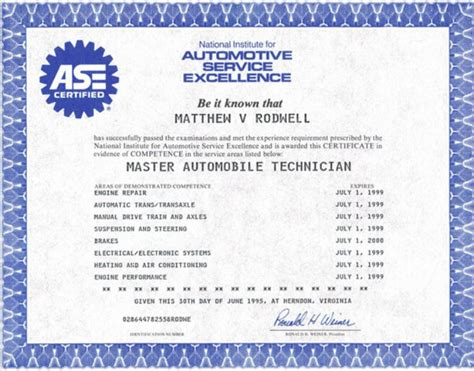 ase certificate template ase certified ase certificate great birth certificate