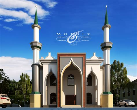 masjid member design cgarchitect professional 3d architectural visualization