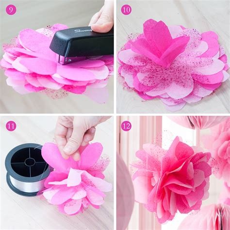 How To Make Tissue Paper Balls To Hang - how to make tissue paper hanging decorations