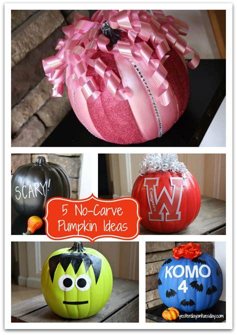 easy  carve pumpkin ideas yesterday  tuesday