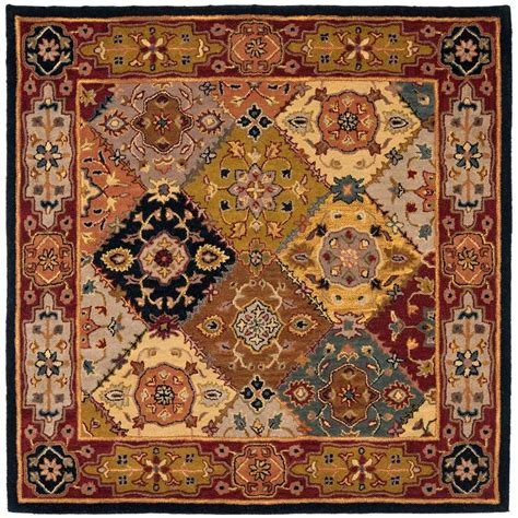 Safavieh Heritage Multi Red 6 Ft X 6 Ft Square Area Rug 6 X 6 Area Rugs