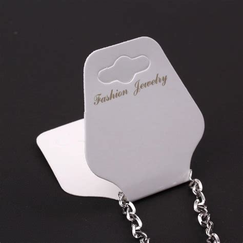 100ps White Paper Necklace Bracelet Fashion Jewellery Display Cards New Tags Ebay Paper Bracelet Template