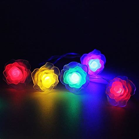 path lights sunniemart 40 led multi colored rose battery