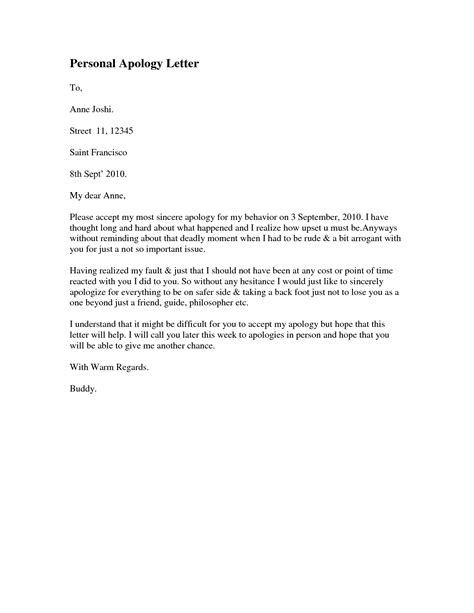 Letter Of Apology writing a letter of apology