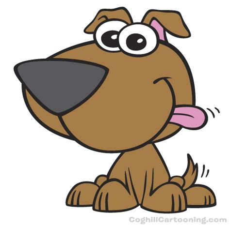 dogs in animated puppy mascot character illustration coghill cartooning