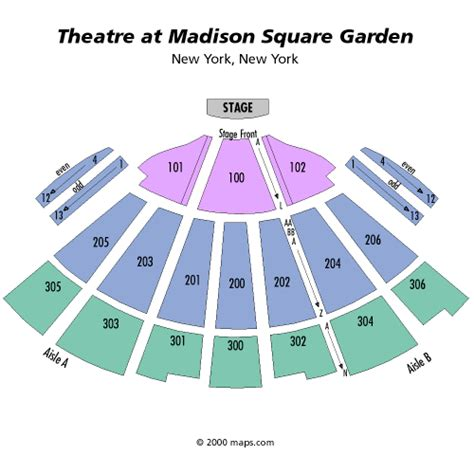 theater at square garden seating chart vaenga november 18 tickets new york the theater at