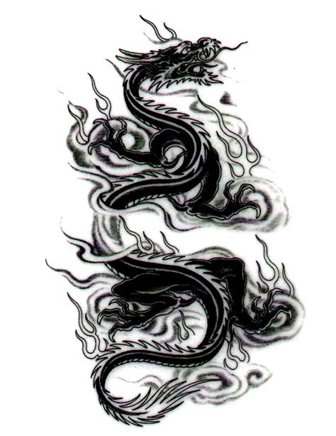 dragon tattoo designs black and white black free design ideas