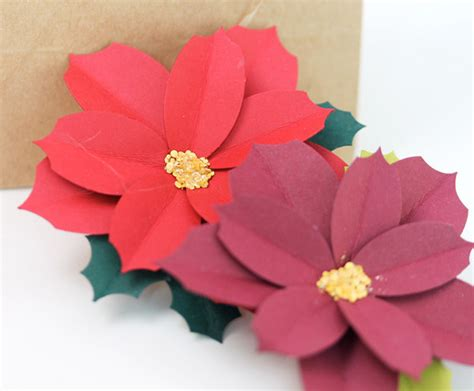 poinsettia craft projects simply beautiful paper punch poinsettias