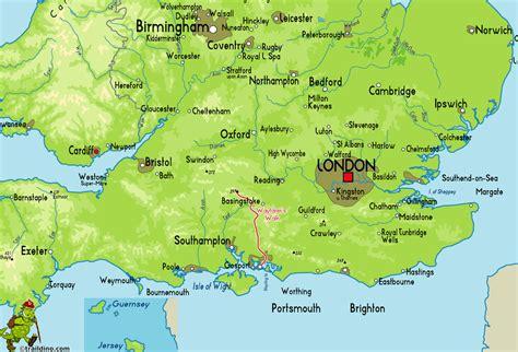 map uk south map of south coast