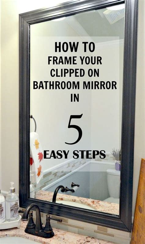 bathroom mirror clips how to frame a mirror with clips in 5 easy steps metals