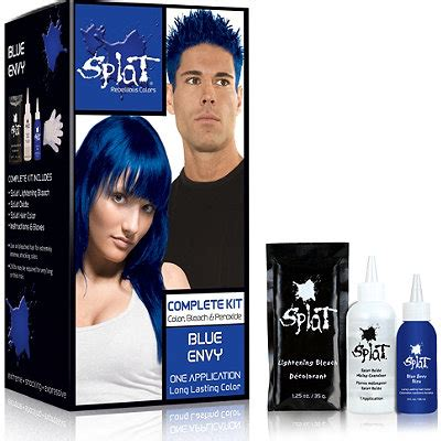 how to get splat hair dye out of hair splat hair color complete kit blue envy dark brown hairs