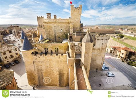 how to visit huarte city navarra in spain scenic view of the famous olite castle navarra spain stock photo image 54167791