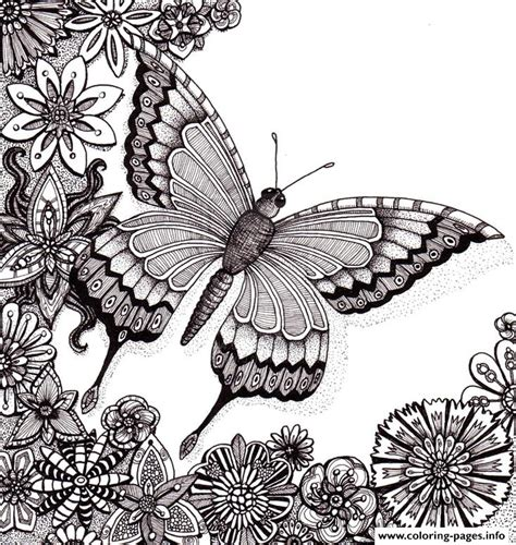 coloring pages of butterflies for adults butterflies floers for adults free coloring pages printable