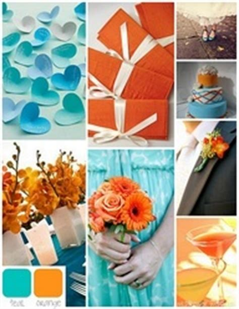 how do you say the color orange in 100 ideas to try about orange and teal wedding flowers
