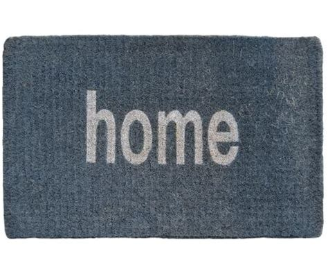 Grey Welcome Mat Regular Doormats