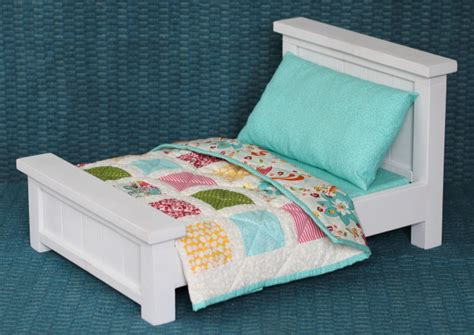 how to make a american girl doll bed doll bed with bedding patchwork quilt blog homeandawaywithlisa