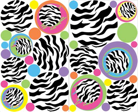 zebra print stickers for walls zebra print dot wall decals 37 zebra dots wall stickers
