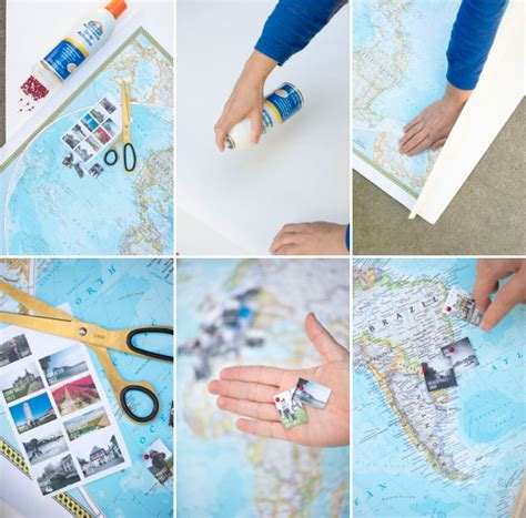 travel crafts for travel memory map diy