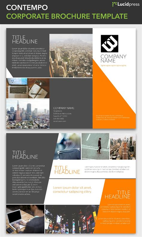 corporate brochure template lucidpress visual ly