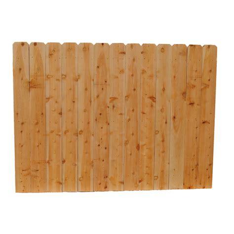 ear fence panels shop incense cedar ear wood fence picket panel common 6 ft x 8 ft actual 6 ft